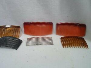 vintage /  antique ladies hair comb collection- 7 peices!!!