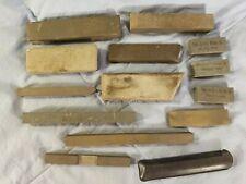 Vtg Lot of 13 Sharpening Honing Stones - Unmarked