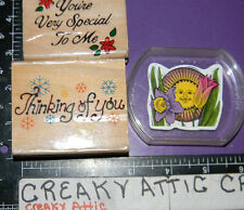 VERY SPECIAL TO ME THINKING OF YOU SUN FLOWERS 3 RUBBER STAMPS #A37
