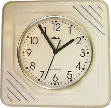 21010210F Keramik Küchenuhr Artline quadrat.Blaustreifen optischer Fehler Funk