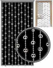 Glamorous Silver Disco Ball Beaded Hanging Door Curtain w/ Hanging Fixings