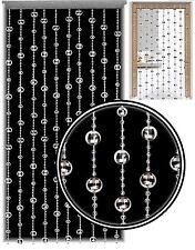 Glamorous Silver Disco Ball Beaded Hanging Door Curtain w/ Hanging Fixings