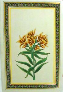 Flower Border Flower Paper Painting Artistic Home Decorative Wall Hanging  Art