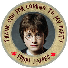 """30 x Personalised Harry Potter Round 50mm 2""""party Stickers Party Thank You Seals"""