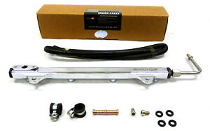 OBX Racing Sports Silver Fuel Rail For 08-15 Mitsubishi Lancer Evo X 2.0T 4B11T