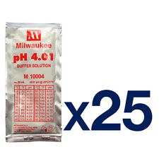 25pk Milwaukee pH-metro calibrazione Buffer BUSTINA 4.01pH