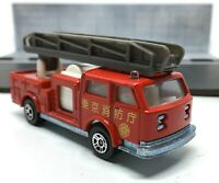 Majorette Pompier Japan Fire Truck Red Dark grey Ladder 1/100 Ref 207