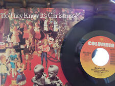 BAND AID DO THEY KNOW ITS CHRISTMAS / FEED THE WORLD W/ RARE PICTURE SLEEVE