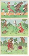 Lot 3 cartes postales Jacques Faizant Humour Fantaisie Neuves VTE POSSIBLE UNITE