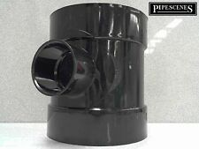 """uPVC Waste to Soil Adapter Boss Pipe 110mm 4"""" to 40mm 43mm 1 1/2"""" Black"""