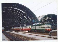 CPA PK AK PHOTO TRAIN CHEMIN DE FER LOCOMOTIVE D' EUROPE SNCB-SNCF-TEE-RAI-DB-FS