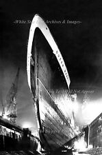 Poster Print 24x36 Awesome Bow Of Troopship Queen Mary In Drydock, October, 1942