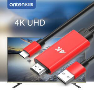 4K Type C HDMI Video Cable Adapter to TV for Macbook Samsung S20 S10 Huawei P30
