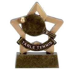 Table Tennis Trophy mini star. *Free Engraving*.