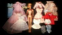 Vintage Blonde Barbie #5 Lot Tagged Clothes Sailor Robe Dress Swimsuits Lingerie