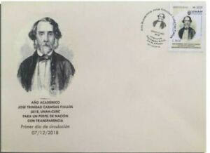 """Honduras. Academic year """"Jose Trinidad Cabanas"""" First Day Cover, new issue 2018"""