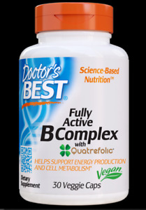 oDoctor's Best - Fully Active B Complex - 30 Vegetarian Capsules EXP)SEP/2021