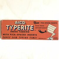 Vintage Office Prop Folder Aico Typerite Index Tab Strips Inserts Aigner Chicago