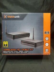 Blackweb HDMI Wireless HD Video Kit Transmitter & Receiver 1080P Video - New