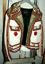 Fantastic jewel studded vintage Cabretta  Leather Jacket 70's Medium/small