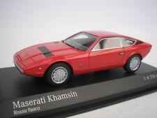MASERATI KHAMSIN 1977 ROSSO 1/43 MINICHAMPS 437123224 NUOVO