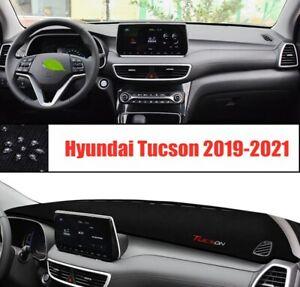 For Hyundai Tucson 2019-2021 black Car Inner Dash Mat DashMat Sun Cover Pad