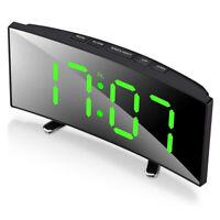 Digital-Wecker, 7-Zoll-Curved Dimmbare LED-Schirm-Digital-Uhr für Kinder Sc L5F8