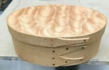 MAPLE AND QUILTED  MAPLE SHAKER OVAL BOX SIZE # 3