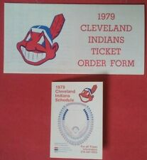 1979 Cleveland Indians Vintage Baseball Ticket order form ENVELOPE LOT schedule