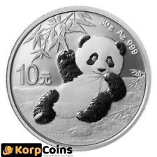 2020 30g ¥10 CNY Chinese Silver Panda Coin BU (In Capsule)