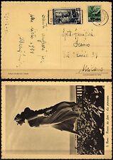1517 - Repubblica - Democratica + Italia al lavoro su cartolina, 30/12/1950