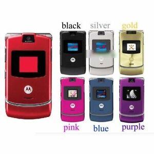 ⭐Motorola V3i Razr All Colours Unlocked Bluetooth Flip Mobile + Free Chargr