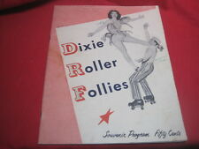 DIXIE ROLLER FOLLIES - 1953 SOUVENIR PROGRAM - W.R. Kemp - Roller Skating VTG