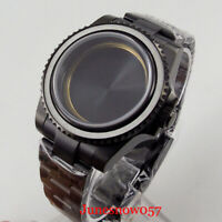 Japan NH35 NH35A NH36 Men Black PVD Plated Watch Case Watch Bracelet Sapphire