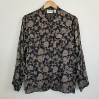 Vintage CHICO'S Silk Blend Blouse Top Size M