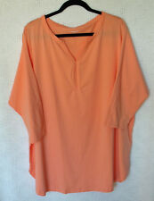 Lands' End Cotton Blend Y Neck Tunic Size 2X 3/4 Sleeve New Without Tags NWOT