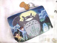 Totoro XL Azul Viaje Bolso Monedero Bolso de Móvil Cosmético cremallera para mujer niña Llavero Japonés