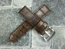 BIG CROCO 24mm LEATHER STRAP Antique Brown Watch Band Super Avenger Brown
