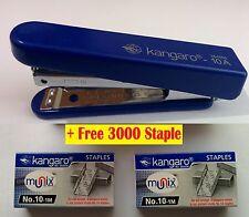 KANGARO HS10-A STAPLER WITH STAPLE REMOVER HOOK FREE 3000 STAPLES OFFICE Blue