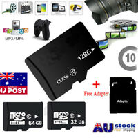 Pro 32GB 64GB 128GB Micro SD TF Memory Card SDHC SDXC Class 10 + Free Adapter