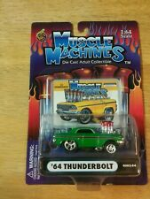 Muscle Machines Lot Of 2 - '64 Ford Thunderbolt Blue & Green !