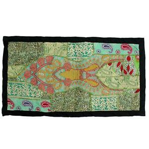 Vintage Tapestry Indian Handmade Art All Occasion Gift Patchwork Wall Hanging