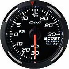 DEFI White Racer Gauge; USDM / Imperial Series 52mm Boost Gauge #DF06503