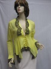 SASS & BIDE  Yellow Black Queen of Destiny Cotton Jacket TOP SZ 40 NWT $380