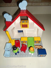VINTAGE 1999 PLAYMOBIL 123 DOLL HOUSE DOLLHOUSE FURNITURE FAMILY FIGURE MIX LOT