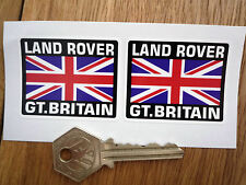 LAND ROVER Great Britain Union Jack Style Stickers 50mm Pair Car Defender 110 88