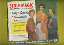 1953 Stole Magic By Chadwick J & P Coats  Rayon Lace Package Unused