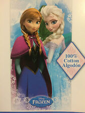 Disney Frozen Elsa Anna Snow Flakes Beach Bath Towel 100% Cotton  28 in x 58 in