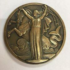 Médaille Compagnie Générale Transatlantique NORMANDIE 1935 Jean Vernon Bronze