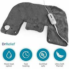 "DR Relief Electric Neck and Shoulder Warmer Heating Pad (18""x25"") Gray"
